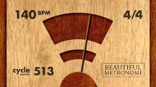 140 BPM 4 4 Wood Metronome HD