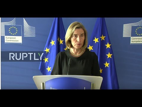 LIVE: Mogherini briefs press in Brussels following meeting with Qatari FM