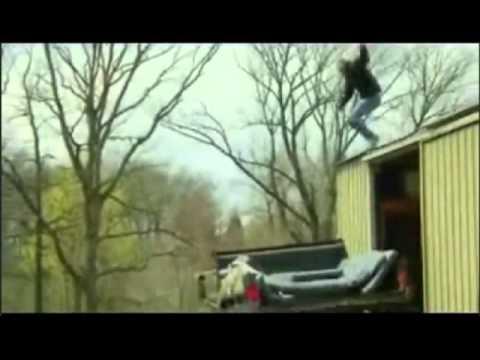 Man Jumping Off Roof Doovi