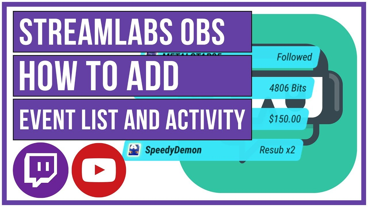 Streamlabs OBS - How to Setup Event List and Stream Activity