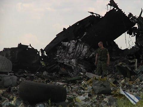 Raw: Military Plane Shot Down in Ukraine
