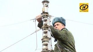 Одни из самых технически сложных родов войск вышли на учения под Борисовом