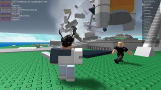 Me and my friend jr's first roblox vid