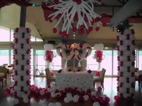 Wedding Decorationchair Cover With Balloons Youtube