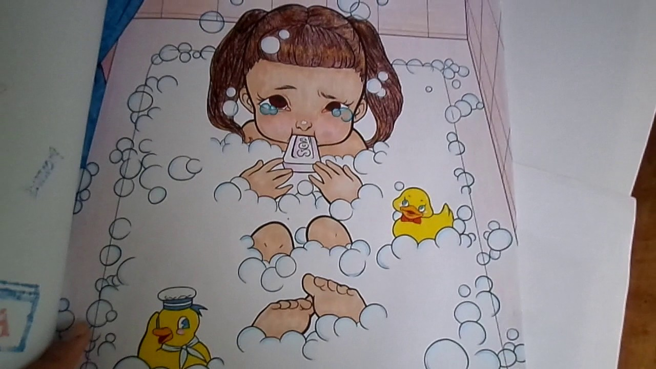 Melanie Martinez Cry Baby Coloring Book Completed - YouTube
