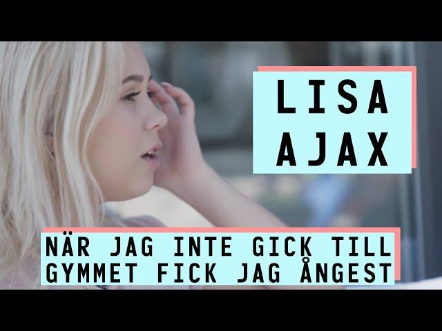 """Lisa Ajax """"när jag inte gick till gymmet fick jag ångest"""""""