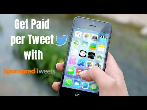 Get Paid to Tweet with Sponsored Tweets