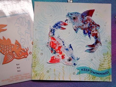 1 DIE 5 CARDS WITH KOI FISE DIE - PART 1
