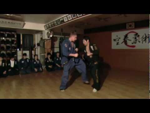 (74) Gongkwon Yusul sparring Joel vs Chae (Korea jiu jitsu Hapkido)
