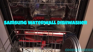 Samsung Waterwall Dishwasher  9960 is SO innovative! Great appliance for big families.