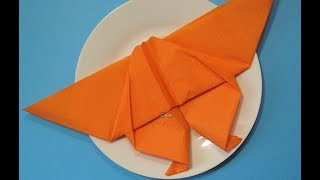 Как красиво сложить салфетку на праздник? Бабочка (оригами) из салфетки Поделки своими руками!