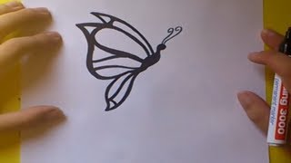 Como dibujar una mariposa paso a paso 4   How to draw a butterfly 4
