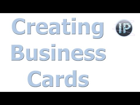Photoshop Elements Creating Business Cards Photoshop Elements Tutorial