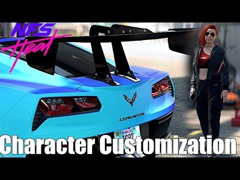 Need For Speed Heat Corvette Grand Sport Full Build Character Customization Gameplay Youtube
