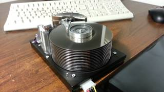 Scary spin up of ancient 23GB Hard Drive - Sounds like a jet engine taking off