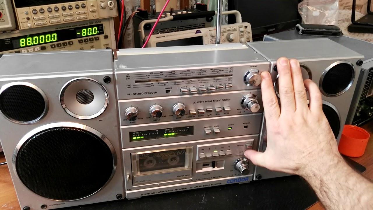 Groovy 32) Szybki test Radiomagnetofonu CONDOR ( srebrny) cz.1 - YouTube IH07