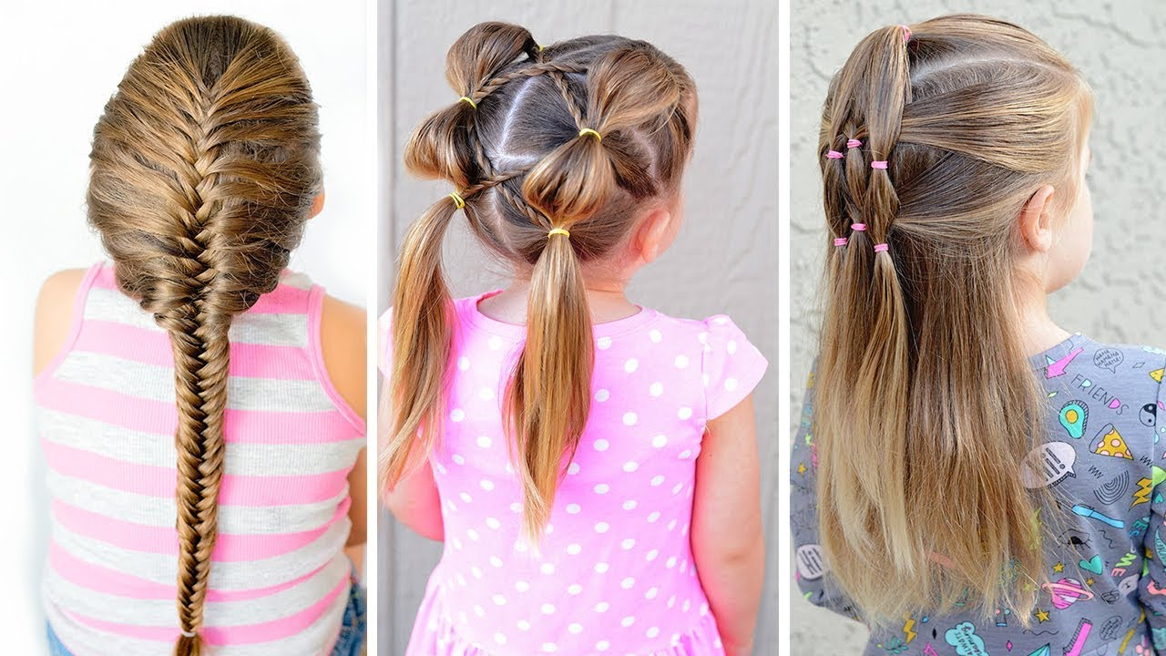 4 easy hairstyles for little girls⭐ easy toddler hairstyles
