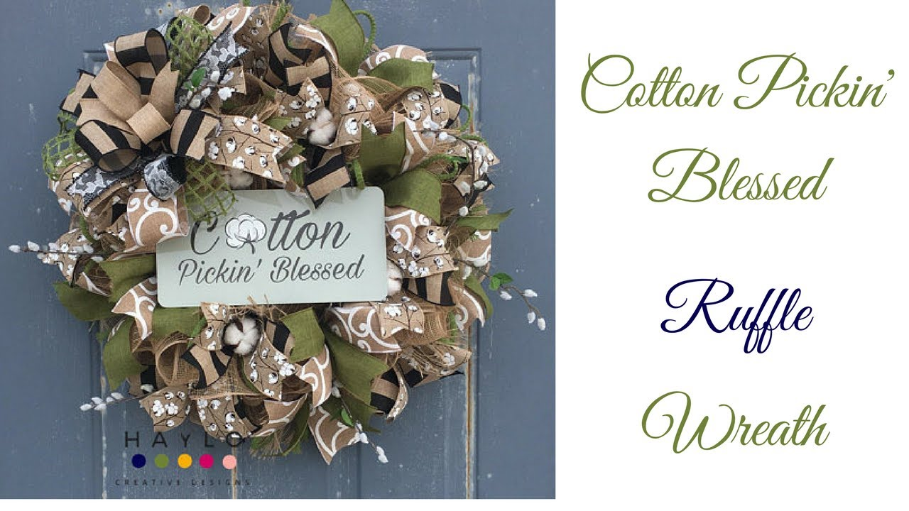 10 Inch Deco Mesh Wreath Tutorial