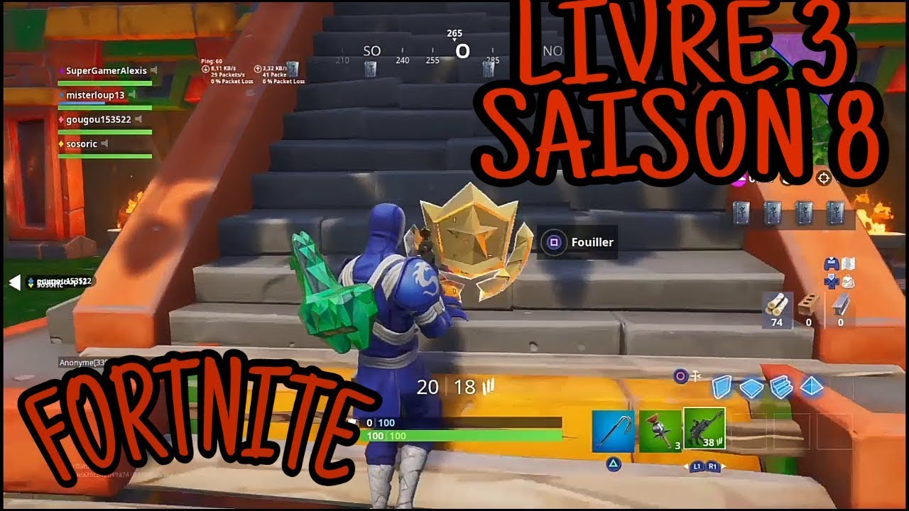 Etoile Du Livre 3 Saison 8 Fortnite Battle Royale
