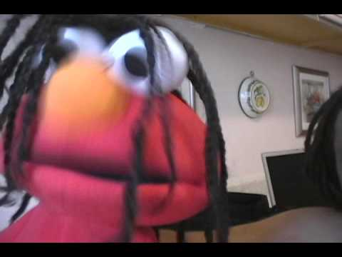 Jamaican Elmo = Batty Puppet