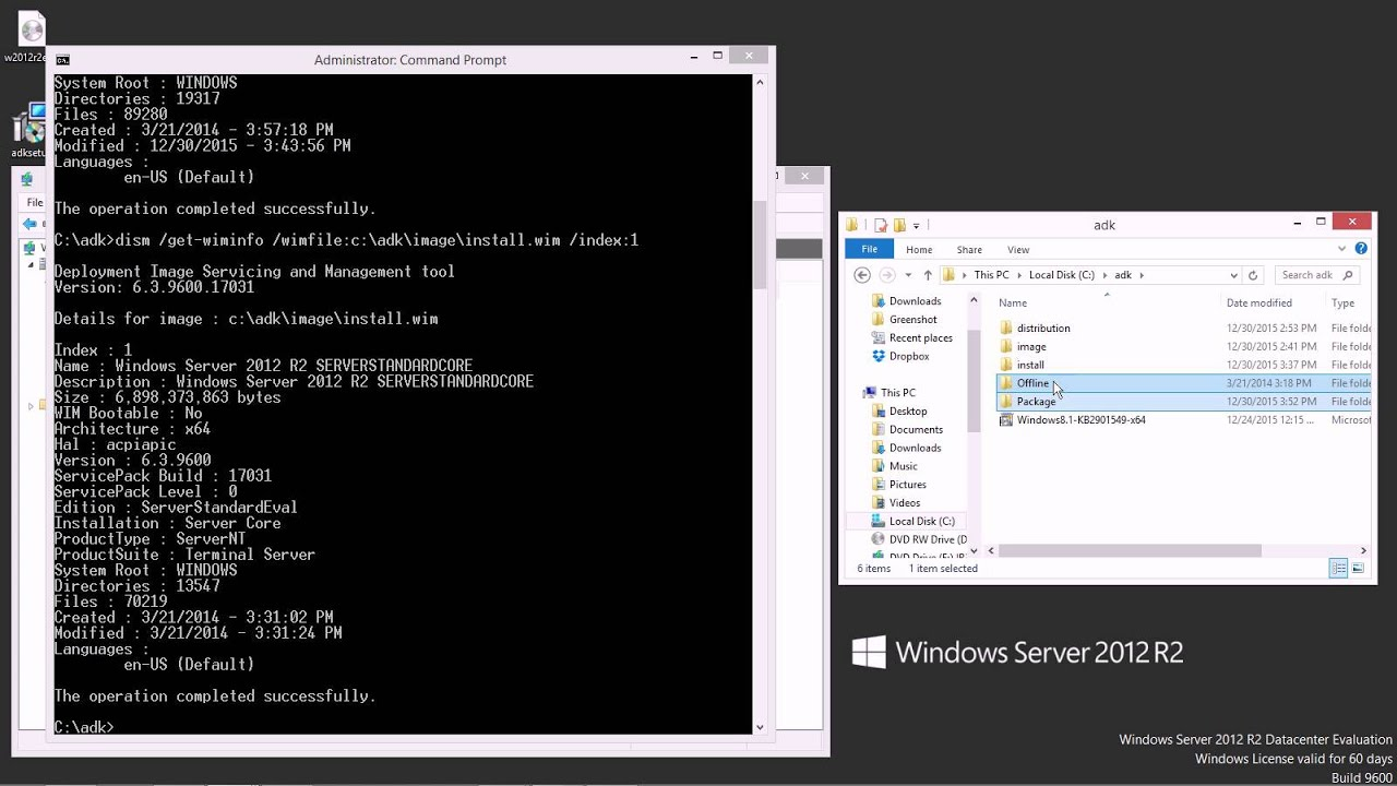 Using DISM to patch a Windows install image