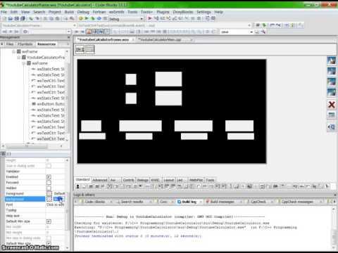 C++ Tutorial - Calculator with wxWidgets & Codeblocks in C++ with GUI Part 2