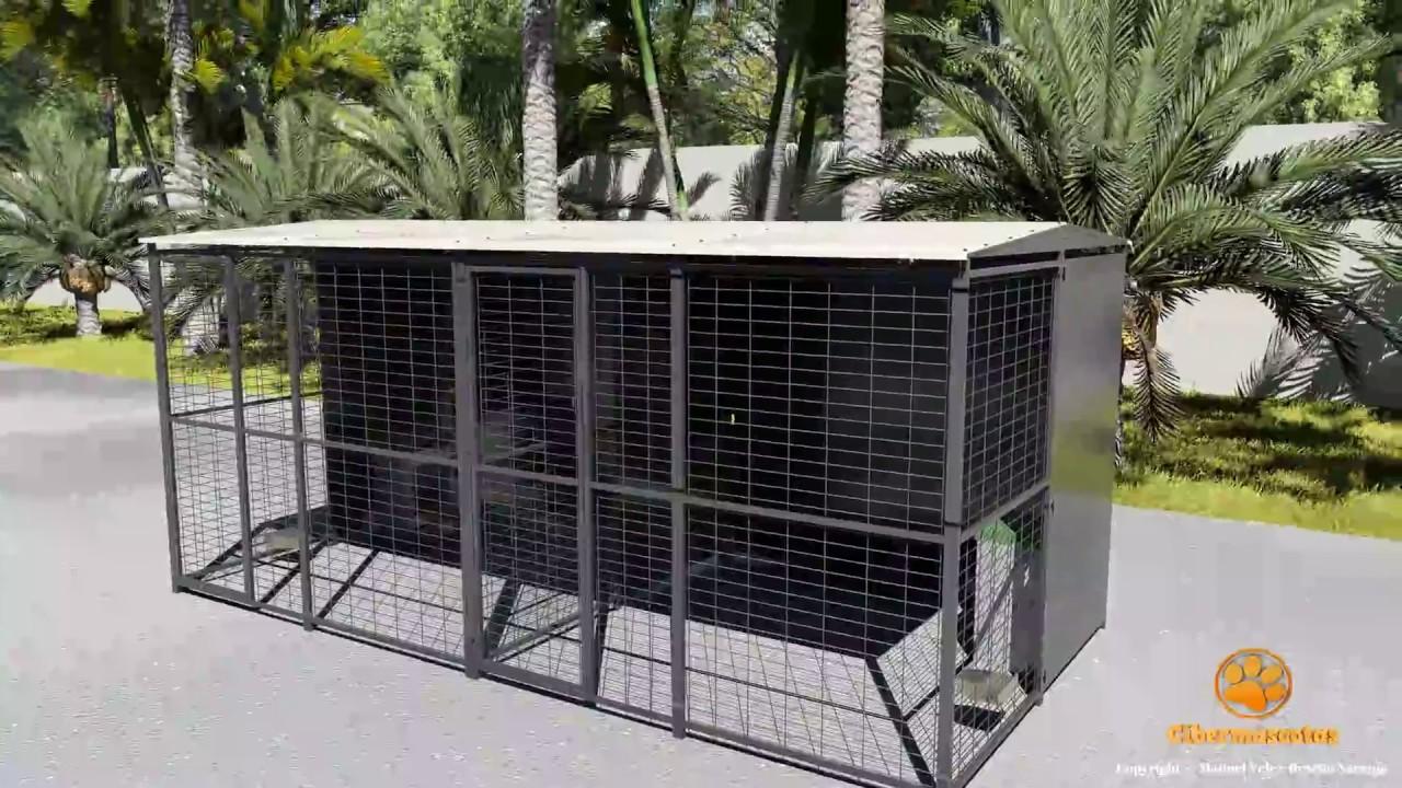 Download Perrera para perros 4x2 con separación   Boxes economicos