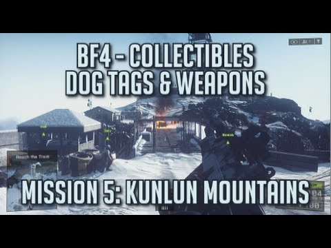 Battlefield 4 - All Collectibles - Mission 5: Kunlun Mountains - Dog Tags & Weapons