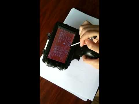 How to use Meenjet portable hand inkjet coder printing Text / Barcode / QR code / Date /Number? 2