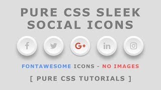 Css Sleek Social media Icons -  CSS3 Icon Hover Effects - Html Css 3D Icon Hover Effects - No Images