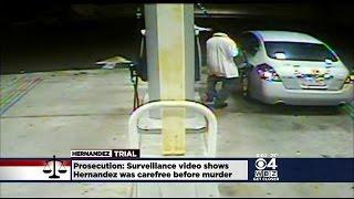 Surveillance Video Shows Hernandez Dancing Before Odin Lloyd
