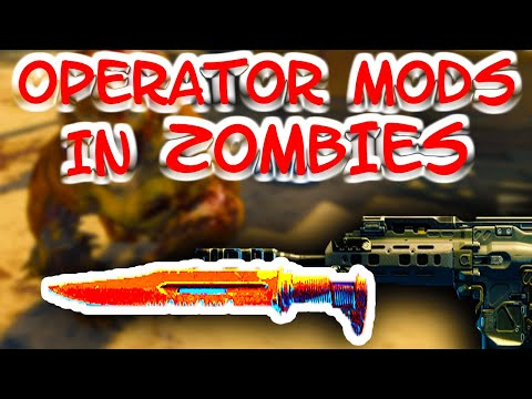 WHAT OPERATOR MODS DO IN ZOMBIES (Call of Duty Black Ops 4 Zombies)