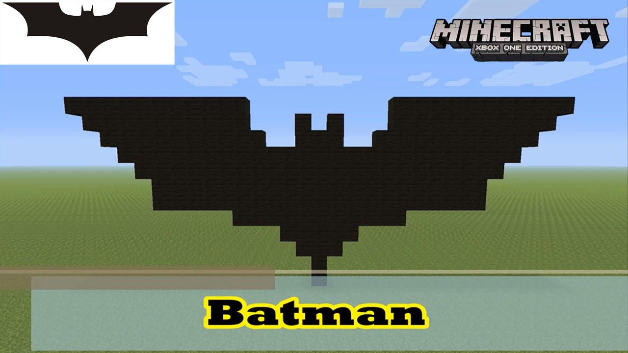 Minecraft Pixel Art Tutorial And Showcase Simple Batman Symbol Logo From The Dark Knight Rises