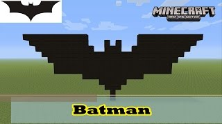Minecraft: Pixel Art Tutorial and Showcase: Simple Batman Symbol (Logo from The Dark Knight Rises)