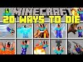 Minecraft 20 WAYS TO DIE MOD! | CLONE YOURSELF AND DIE IN 20 DIFFERENT WAYS! | Modded Mini-Game