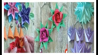 HOW TO MAKE HANDMADE PAPER FLOWER - SUPER EASY DIY | ROSE, Violet, Iris, Poppy, Daisy, Jasmine, Lily
