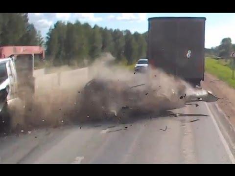 Truck Crash Compilation 2015 (Trucks vs. Cars)