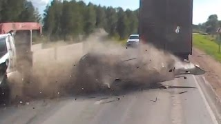Truck Crash Compilation 2015 (Trucks vs. Cars)