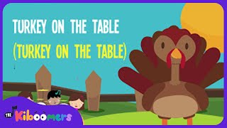 Thanksgiving Dinner | Song Lyrics Video for Kids | Thanksgiving Songs | The Kiboomers