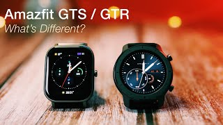 Amazfit GTS vs Amazfit GTR Comparison: What's Different?