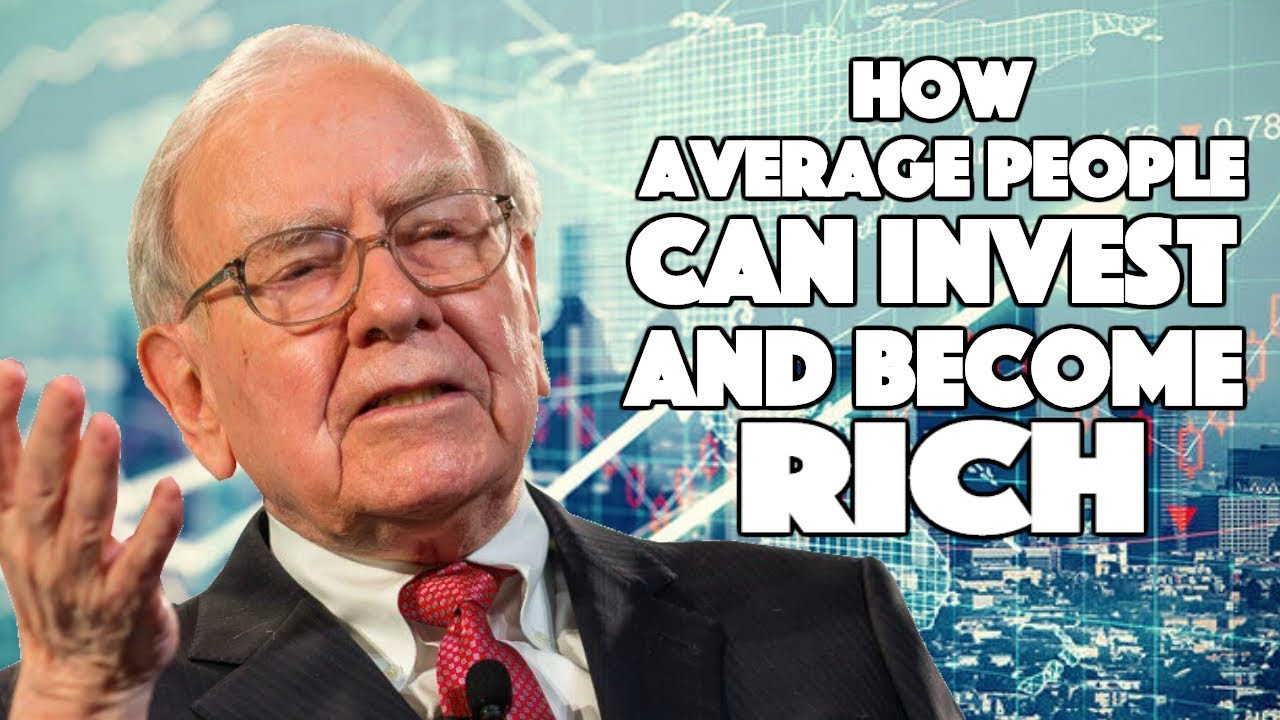 Image result for how can average people invest and become rich warren buffett