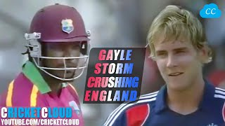 Chris Gayle the Beast Unleashed | Gayle Storm Crushing England | WIvENG 2009 !!