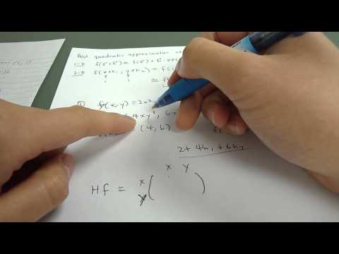 how to find the quadratic approximation of a function