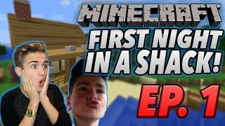 One of Jake Plays's most viewed videos: FIRST NIGHT IN A SHACK | (Minecraft Survival) #1