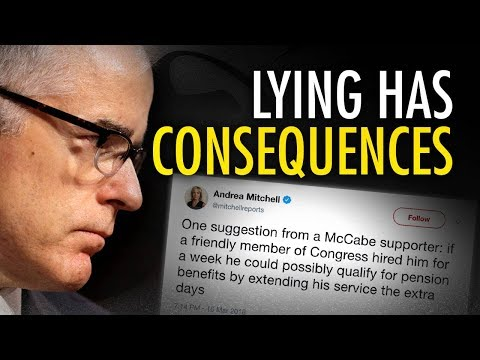 FBI's McCabe fired: Lying has consequences