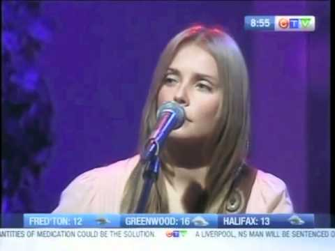 "Marta Pacek performs ""Thar She Blows "" on CTV Morning Live Atlantic."