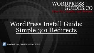 How to Install Simple 301 Redirects WordPress Plugin