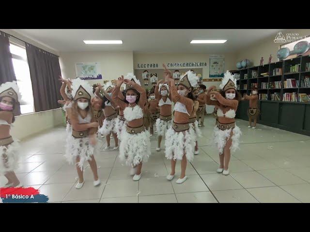 El 1°A de Pumahue Chicauma realiza su baile en el mes de la patria, representando  a Rapa Nui