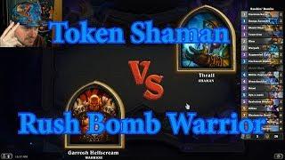 Rush Bomb Warrior vs Token Shaman | Hearthstone