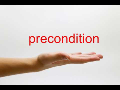 How to Pronounce precondition - American English